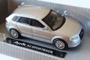 Audi A3 Sportback, серебристый (European series 2) (1/43)