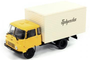 Robur LD3000 фургон 'Продуктовая', желтый/белый (1/43)