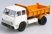 МАЗ-503Б самосвал, белый/оранжевый (1/43)