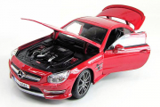 Mercedes-Benz SL 63 AMG Hard Top, красный (1/18)