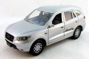 Hyundai Santa Fe III, серебристый (1/32)