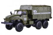 Урал-4320 бортовой с тентом МО РФ (свет, звук), зеленый (1/43)