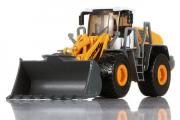 Трактор 580 погрузчик, желтый (T100-D563), (1/50)