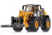 Трактор 580 вилочный погрузчик, желтый (T100-577), (1/50)
