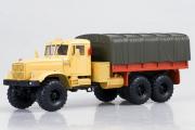 КрАЗ-255Б бортовой с тентом 1969, песочный/оранжевый (1/43)