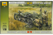 Мотоцикл М-72 с 82-мм минометом (1/35)