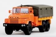КрАЗ-260 бортовой с тентом 1979, оранжевый (1/43)