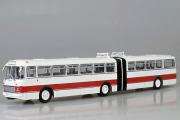 Автобус Икарус-180 гармошка, белый/красный (1/43)