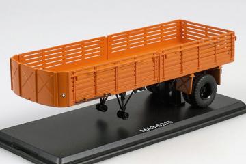 Полуприцеп МАЗ-5215, оранжевый (1/43)