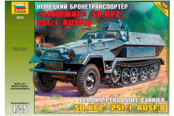Бронетранспортер немец. Sd.Kfz.251/1 AUSF.B 'Ханомаг' (1/35)