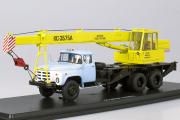 Автокран КС-3575А (ЗИЛ-133ГЯ), голубой/желтый