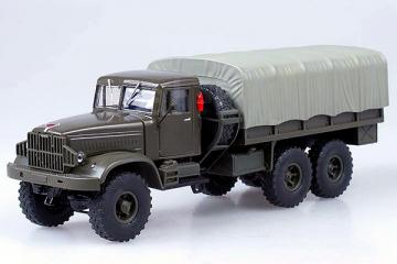КрАЗ-214Б бортовой с тентом 1963, хаки матовый (1/43)