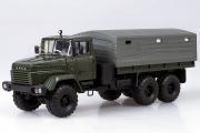 КрАЗ-260 бортовой с тентом 1989, зеленый (1/43)