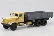 КрАЗ-257Б1 бортовой, бежевый/серый (1/43)