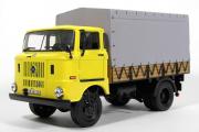 IFA W50L  бортовой с тентом, желтый/серый (1/43)
