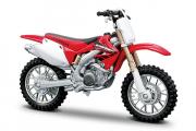 Мотоцикл Honda CRF450R, красный/белый (1/18)
