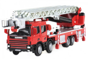 Машина пожарная с выдвижной лестницей Kaidiwei, красный (T100-D575) (1/50)
