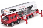 Машина пожарная со складным подъемником Kaidiwei, красный (T100-D571) (1/50)