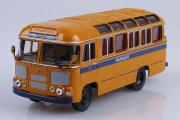 Автобус ПАЗ-672М Милиция, охра (1/43)