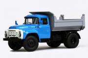 ЗИЛ-ММЗ-4502 самосвал поздний, синий/серый (1/43)