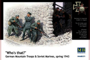 Солдаты Немецкие горные стрелки и советские морские пехотинцы, весна 1943 (1/35)
