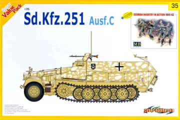 Sd.Kfz.251 Ausf.C + German infantry in action 1941-42 (1/35)