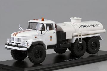 ЗИЛ-131 АЦ-4,0 цистерна 'Огнеопасно' МЧС, белый (1/43)