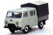 УАЗ-39094 'Фермер' бортовой с тентом, серый металл (1/43)