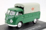 Volkswagen T1b пикап с тентом 1958, зеленый/серый (1/43)