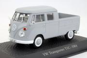 Volkswagen T1C double cabine пикап 1964, серый