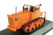 Трактор ДТ-75 гусеничный 1971, оранжевый (1/43)