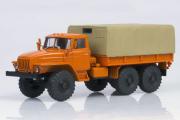 Урал-4320 бортовой с тентом, оранжевый/серый (1/43)