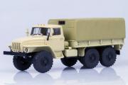 Урал-4320 бортовой с тентом, бежевый (1/43)