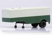 Полуприцеп МАЗ-5217 фургон, зеленый/серый (1/43)