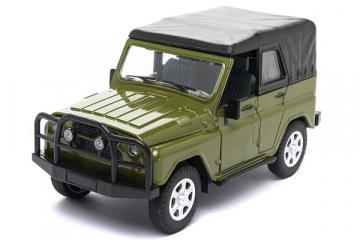 УАЗ-469 с тентом (свет, звук), зеленый (1/24)