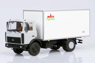 МАЗ-5337 изотермический фургон КИ-5436 'Купава', серый/белый (1/43)