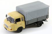 Barkas B 1000 pick-up бортовой, бежевый/серый (1/43)