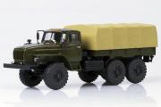 Урал-4320-31 бортовой с тентом (ЯМЗ-238), хаки/бежевый (1/43)