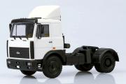 МАЗ-54326 седельный тягач со спойлером 1988, белый (1/43)