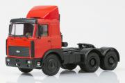 МАЗ-64226 седельный тягач со спойлером 1989, красный (1/43)