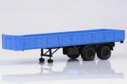 Полуприцеп МАЗ-5205 бортовой двухосный, синий/черный (1/43)