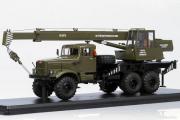 Автокран КС-3575 (КРАЗ-255Б1), хаки (1/43)