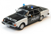 Volvo 244 Полиция Норвегии 2000, белый/черный (1/43)
