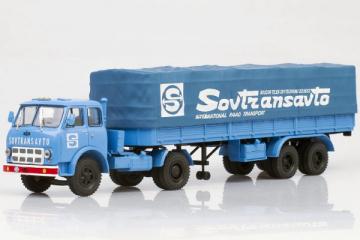 МАЗ-504В ранний + полуприцеп МАЗ-5205А 'Sovtransavto' 1970, синий (1/43)