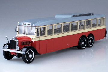 Автобус ЯА-2 'ЯГАЗ' городской 1934, бежевый/красный (1/43)