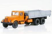 ЯАЗ-210 бортовой, оранжевый/серый (1/43)