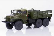 Урал-375 бортовой (тентованная кабина), хаки (1/43)
