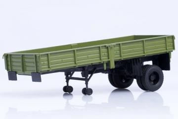 Полуприцеп ОДАЗ-885 бортовой, зеленый (1/43)