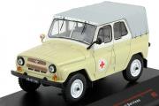 УАЗ-469БГ медицинский 1977, бежевый/серый (1/43)