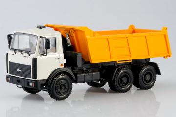 МАЗ-551603 самосвал 1995, серый/оранжевый (1/43)